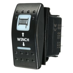 12v Rocker Switch With Light Wiring Diagram Super Strat Laser Momentary Winch In Out On