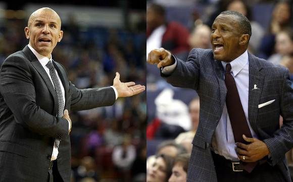 Jason Kidd Dwane Casey Face Off