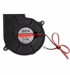 75mmx30mm dc 12v 0 24a 2 pin computer pc sleeve bearing blower cooling fan [ 1000 x 1000 Pixel ]