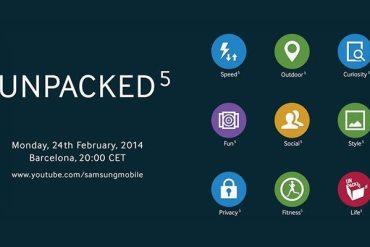 Unpacked 5 TouchWiz Samsung Galaxy S5