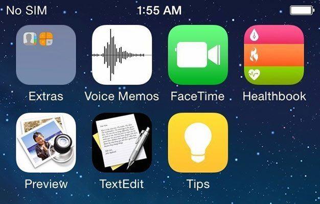 iOS 8 - Healthbook icon