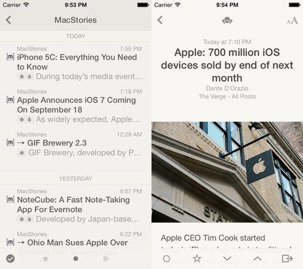 8 Apps esenciales para iPhone — Reeder 2