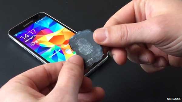 Lector dactilar del Samsung Galaxy S5