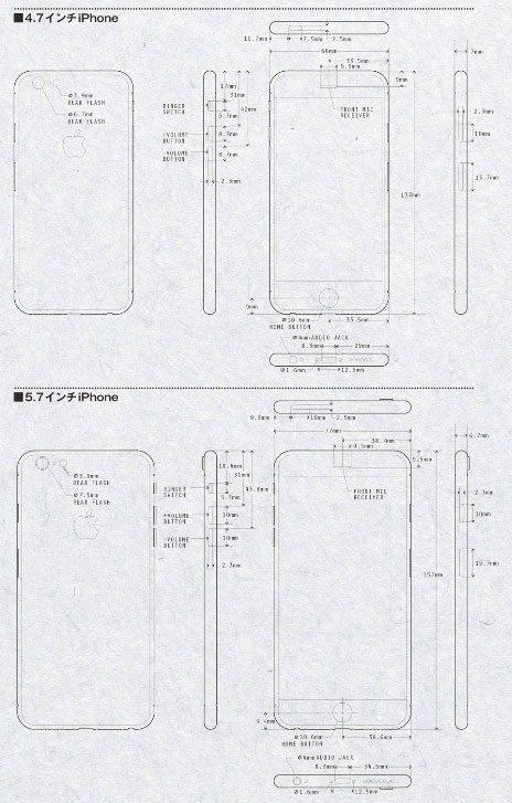 Bocetos iPhone 6 y iPhone 6C