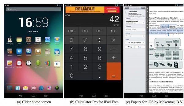 Cider permite correr apps de iOS en Android
