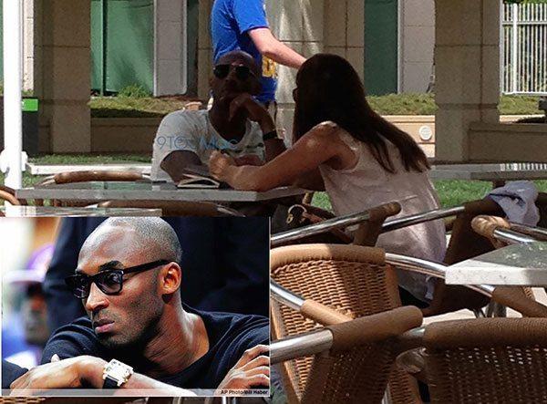 Kobe Bryant en el campus de Apple probando el iWatch