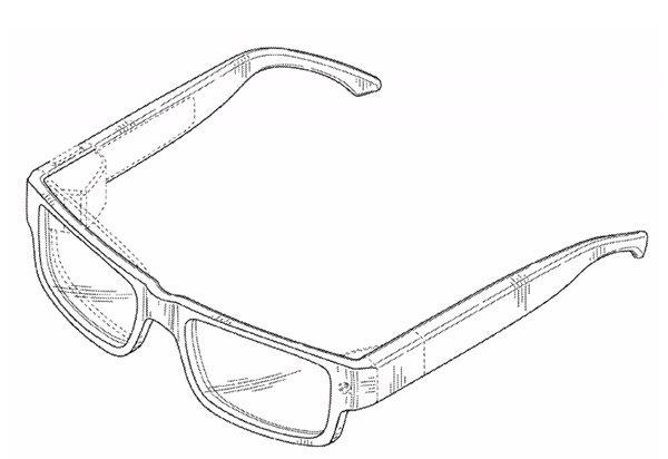 Patente nuevo diseño Google Glass