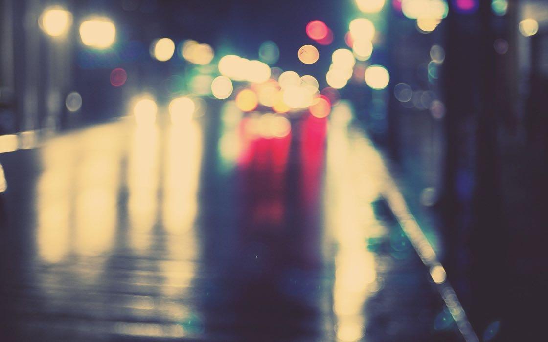 Luces calle noche