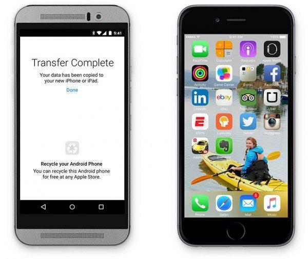 Move to iOS en iOS 9 - Cambiar de Android a iOS