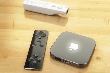 Un control remoto al estilo Nintendo Wii para el Apple TV