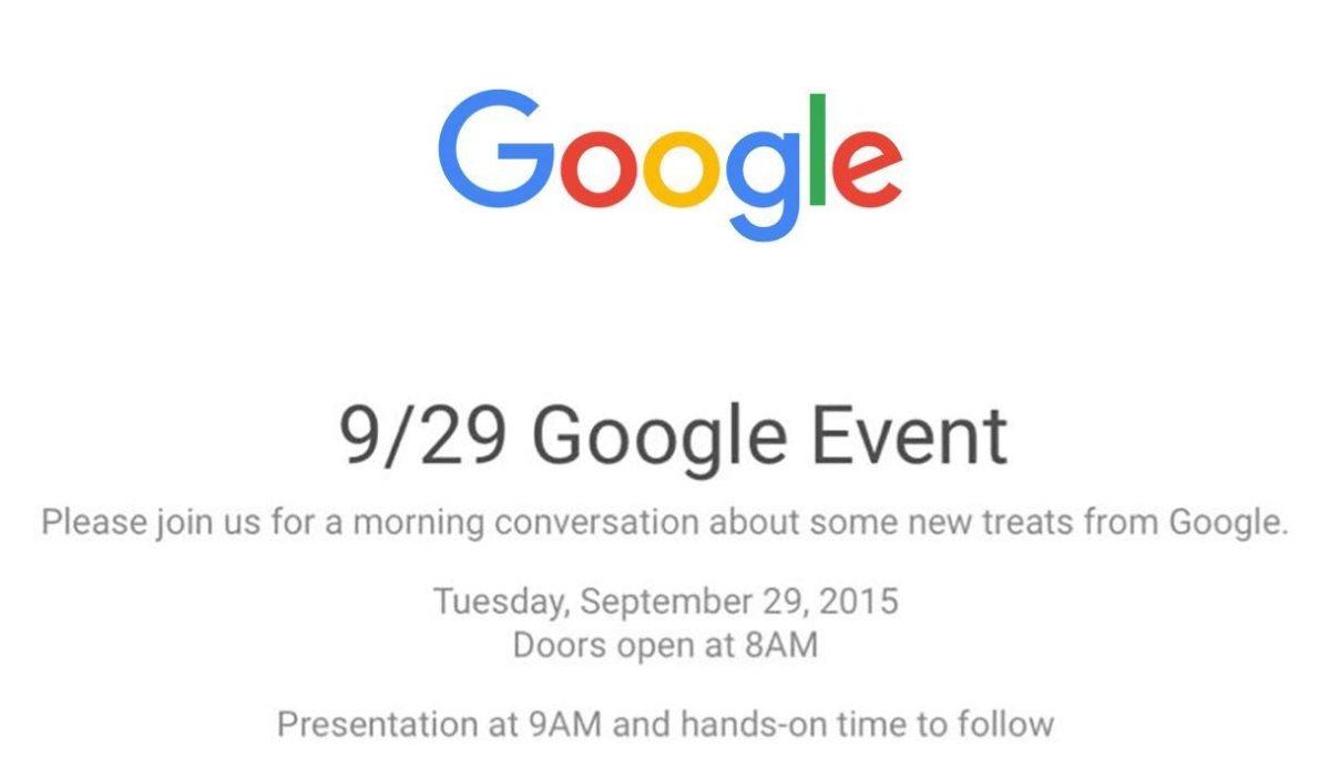 Google Evento 29 septiembre — Nuevos Nexus 5X y Nexus 6P