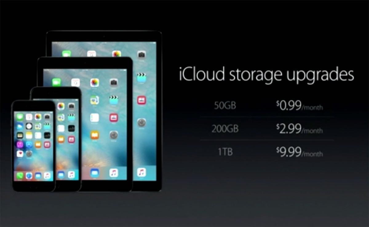 Precios iCloud nuevos planes