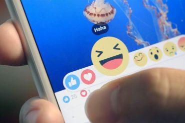 Nuevo botón de Reacciones de Facebook