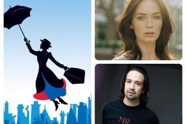 Emily Blunt y Lin Manuel Miranda en Mary Poppins Returns