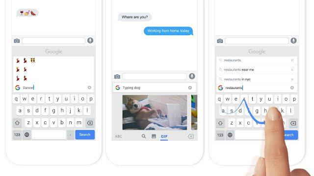 Teclado GBoard de Google para iPhone