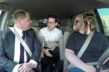 Chewbacca Mom con James Corden y J.J. Abrams