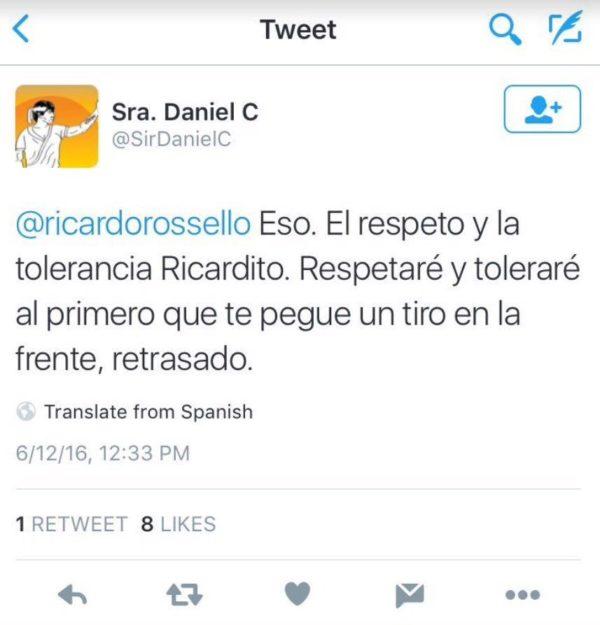 El tuit de la discordia de Cerejido