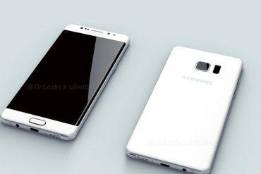 Samsung Galaxy Note 6 Edge render