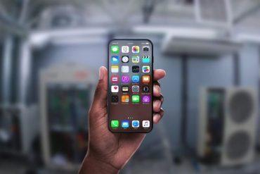 Concepto iPhone 8 transparente