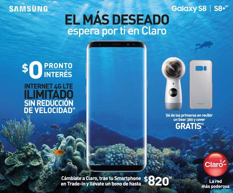 Samsung Galaxy S8 y Galaxy S8+ en Claro Puerto Rico