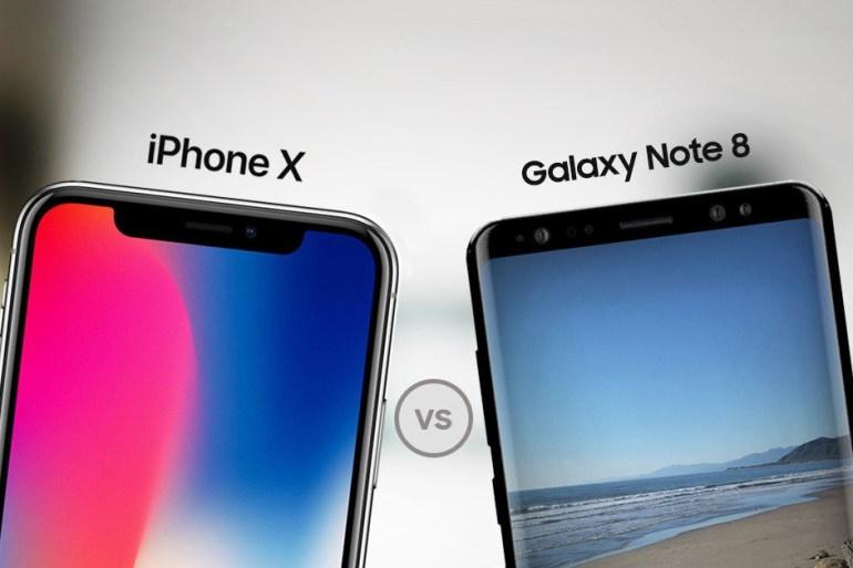 Comparativa iPhone X vs Galaxy Note8