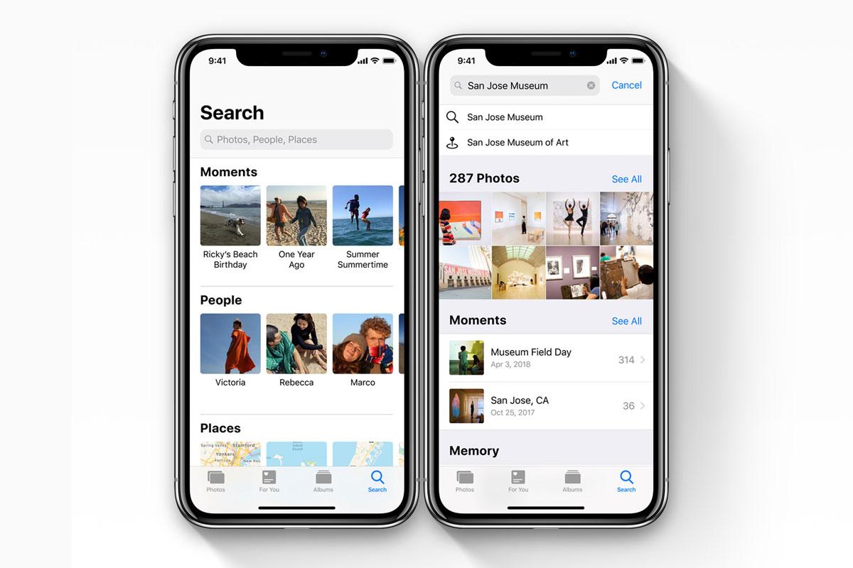 Fotos en iOS 12