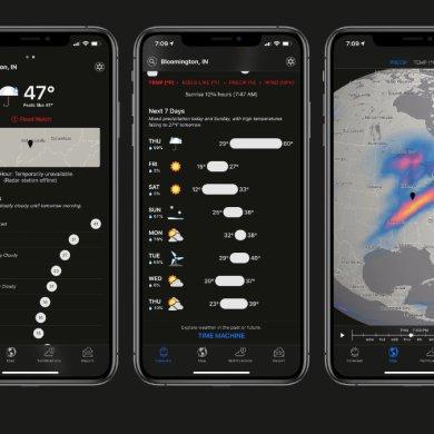 iOS 14 ya integra a Dark Sky dentro del app de Weather