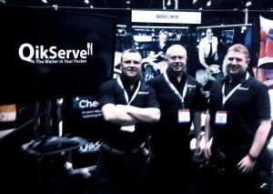 Colin Usher, Ronnie Forbes  & Daniel Rodgers of QikServe