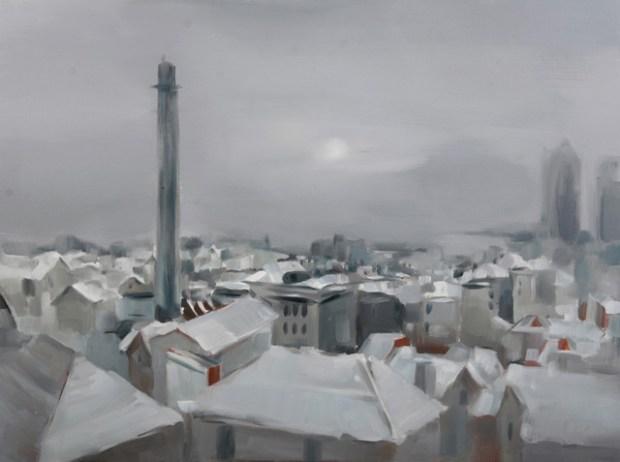 Qingdao Artist Lv Nan Painting Scenery of Qingdao 1