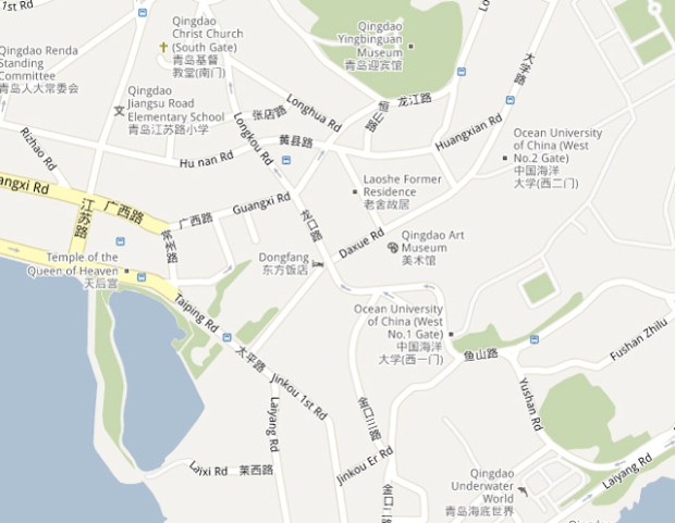 Streets Daxue Map