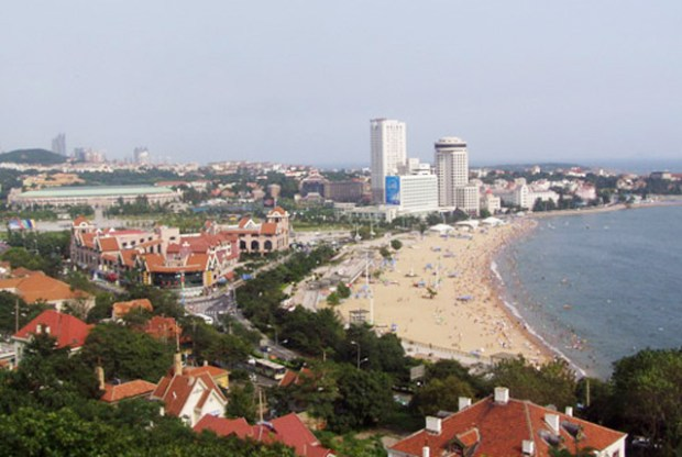 Qingdao Huiquan Bay Beach 1 View From Xiao Yu Shan