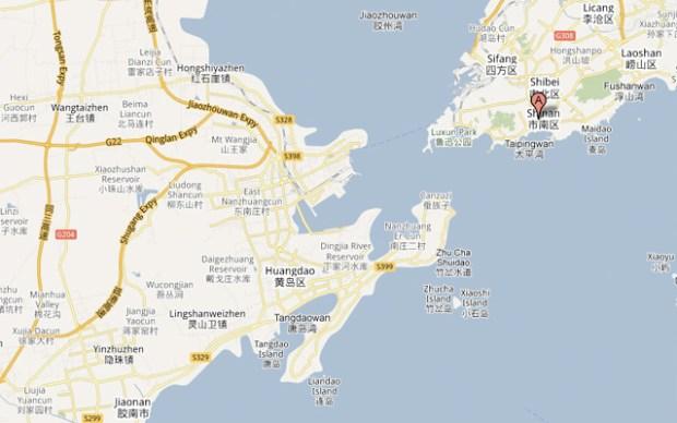 Qingdao Huangdao Map