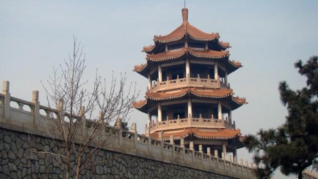 Old Huangdao Park Pagoda Qingdao