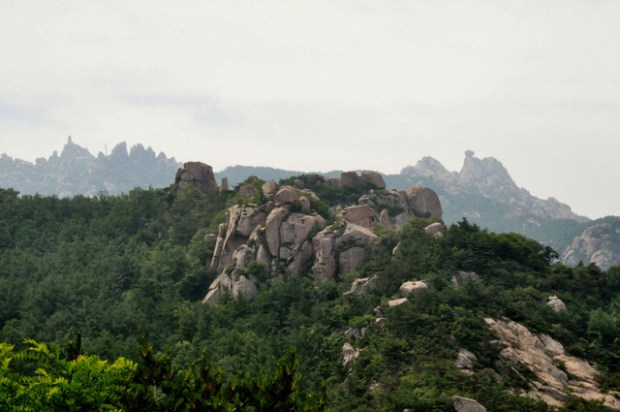 Qingdao Photos Laoshan Na Rocks Trees Mountains 1