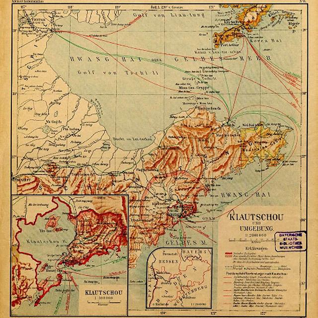 Tsingtao Kiautschou Map kostproben_1wk_fernost_01
