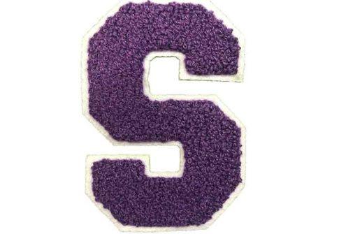 Purple Letter Alphabet Iron On Towel Patches