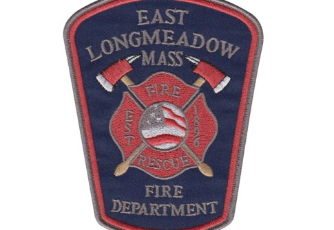 America country flag east longmeadow fire rescue department iron on leather patch
