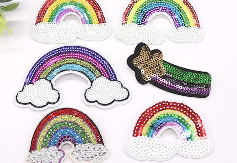 Special hot selling sequin lip patch clothing patches iron sequin