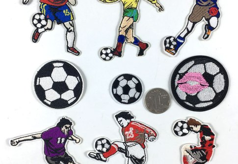 Custom high quality football embroidery sport type ironing World Cup jacket patch