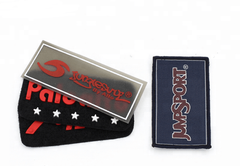 Fabric logo patch Sweater Garment decorative custom embossed brand 3d pvc rubber logo patches chenille embroidery patch