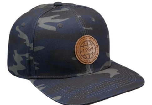 Custom Leather patch Mens Camo Snapback Hockey Sport Hats
