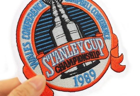 Wholesale Custom Brand Logo Ice Hockey Sportswear Embroidery Patches for Uniform