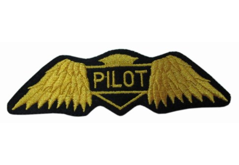 PILOTS WINGS Aviation Airplane Aircraft Emblem Patch Applique
