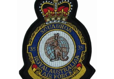 ORIGINAL AIR FORCE SQUADRON PATCH AUSTRALIAN CREST PATCH