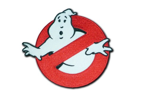 Ghostbusters souvenir patch custom embroidery stick-on patches