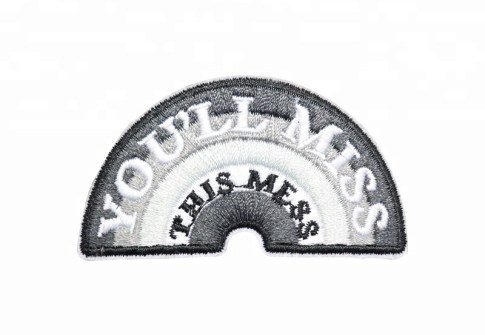 Top rocker embroidery name patches