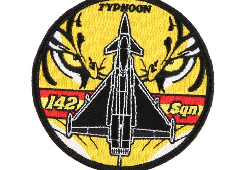 Embroidered Textile Badges Custom Patch Factory Custom Design 3D Embroidery Typhoon Tiger Logo Air Force Patch