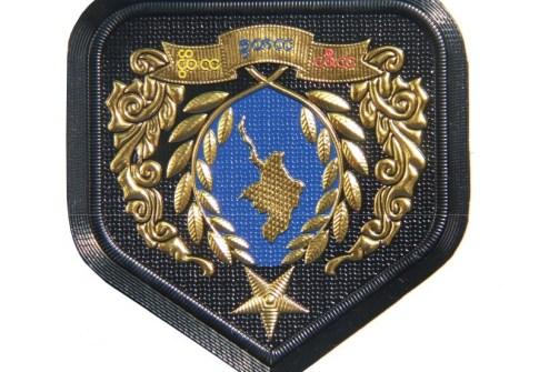 Customized Design 3D Soft Metal Security Guard Uniform Arm Badges