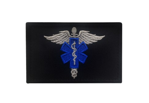 EMS EMT Fire Fighter Department Rescue Firemen Paramedic Medic Hook-and-Loop Embroidery Patch