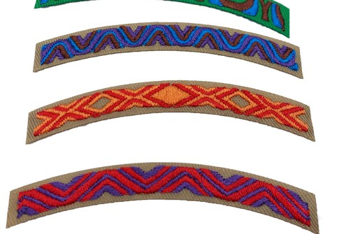 Wholesale Custom Embroidery Boy Scout Patches Iron on Girl Scout Badges patches for clothing